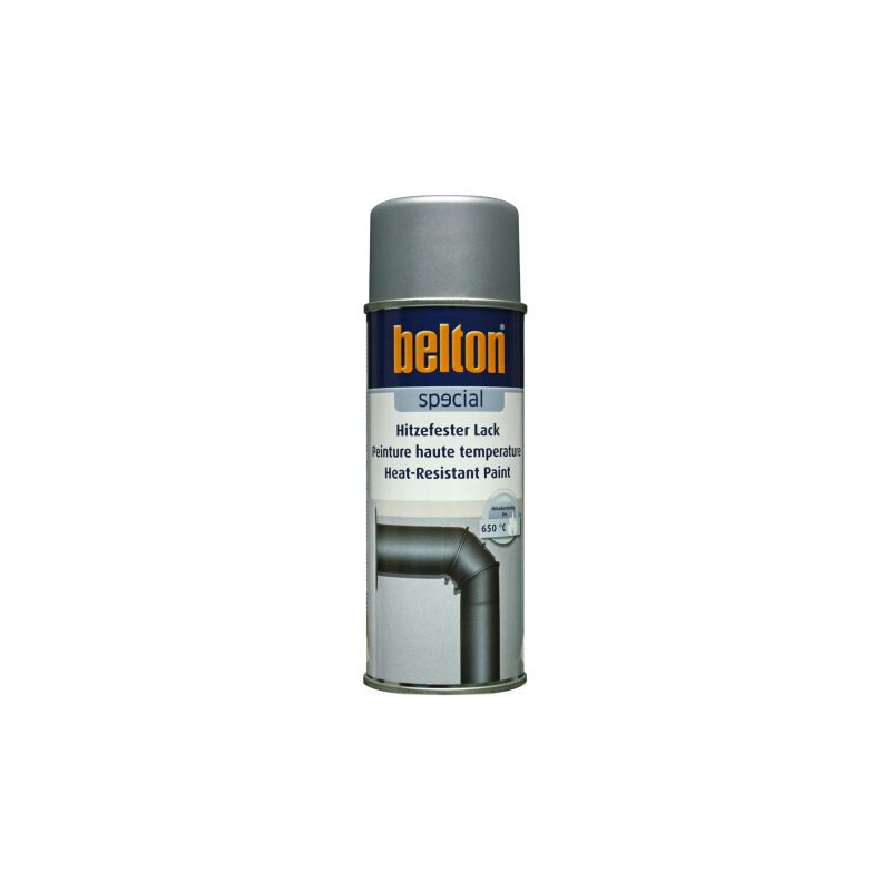 belton spraydose hitzefester lack 650 c silber 400 ml. Black Bedroom Furniture Sets. Home Design Ideas